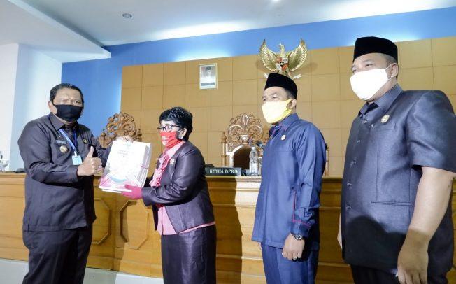 Bupati BU Sampaikan Nota Pengantar Raperda APBD TA 2019