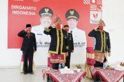 Dari Balai Daerah, Bupati BU Ikuti Detik-detik Proklamasi di Istana Negara Secara Virtual