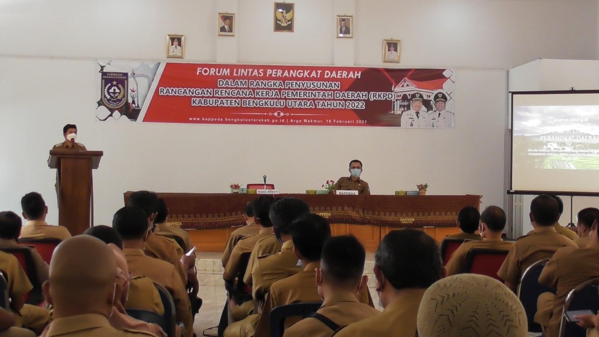 Penyusunan RKPD Tahun 2022 , Pemkab BU Gelar Forum Lintas Perangkat Daerah