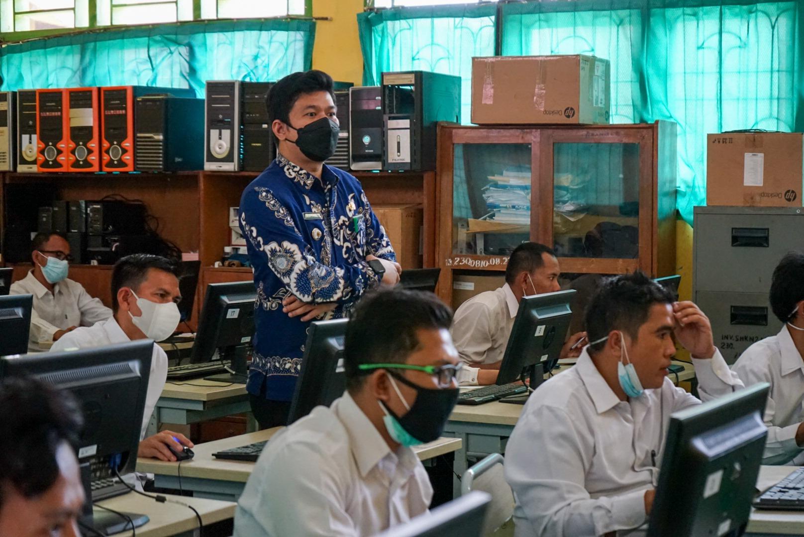 Wakil Bupati Pantau Pelaksanaan Ujian Seleksi P3K