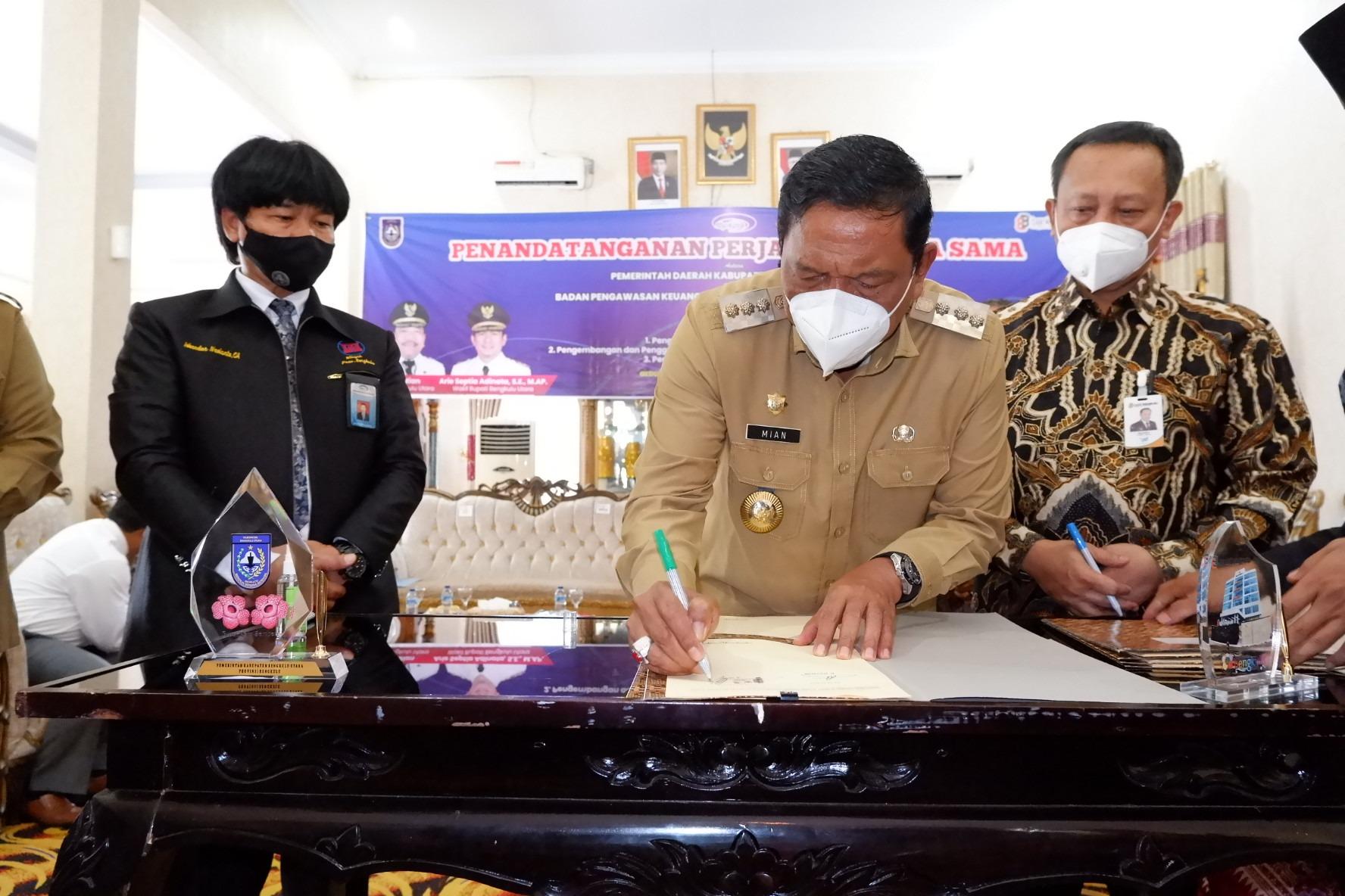 Pemkab BU Gandeng BPKP Prov Bengkulu dan Bank Bengkulu Mudahkan Pengelolaan Keuangan Daerah