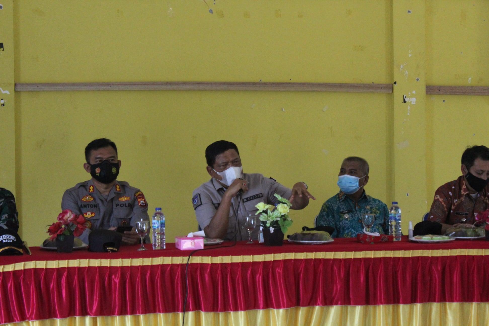 MSS Zona MSS Zona Merah Bupati BU Kumpulkan Jajaran Camat dan Desa Beri Penekanan Disiplin Prokes