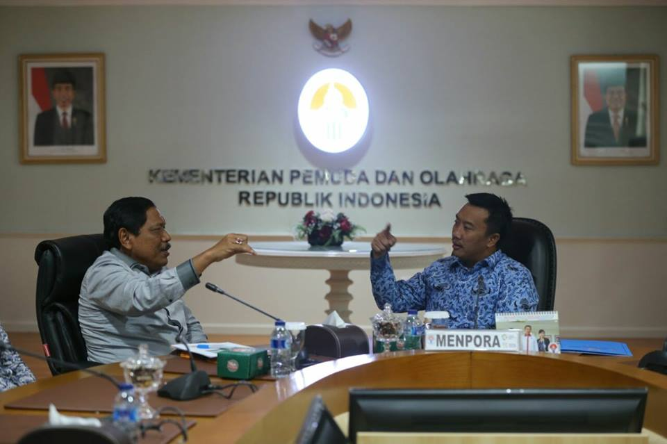 Bupati Bengkulu Utara Audiensi Menpora Terkait Pembangunan Stadion