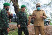 Bupati BU bersama Danrem 041/Gamas Tinjau Lokasi Pembangunan Batalyon Infantri