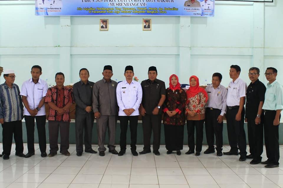 Wakil Bupati Bengkulu Utara Buka Musrenbangcam Arga Makmur