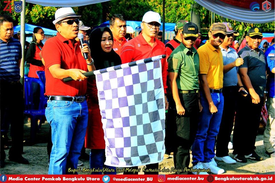 Pemkab Bengkulu Utara Gelar Karnaval Pembangunan Meriahkan HUT RI ke-74