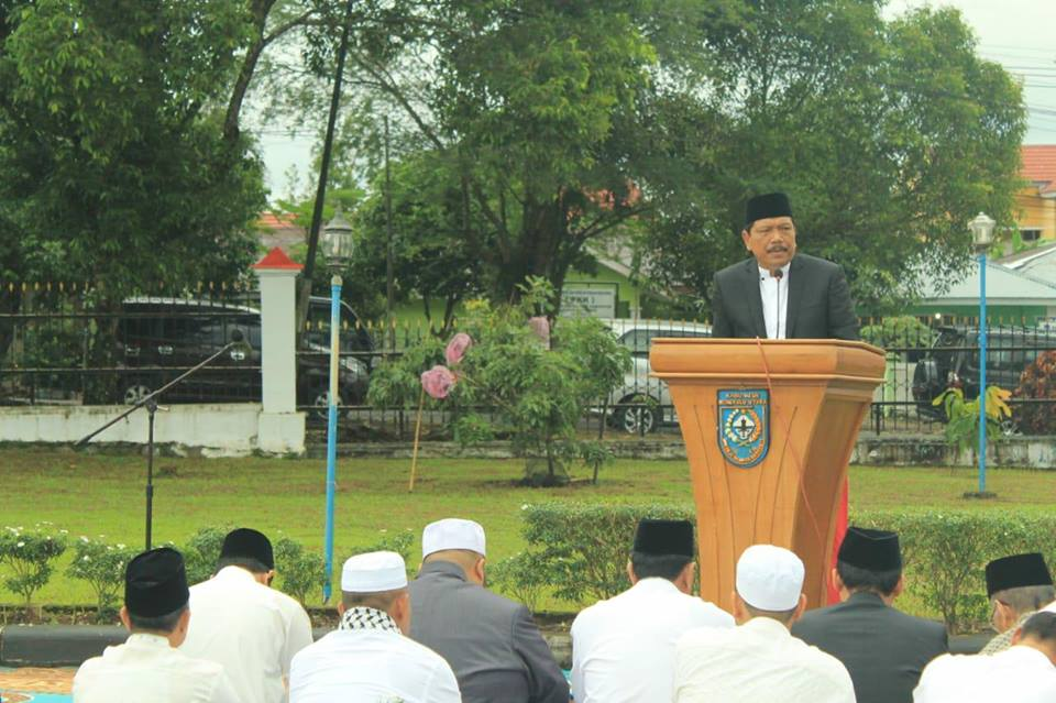 Idul Fitri, Bupati Bengkulu Utara Ajak Meningkatkan Nilai Ukuah Islamiah