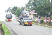 Penyemprotan Disinfektan Serentak Di Wilayah Bengkulu Utara