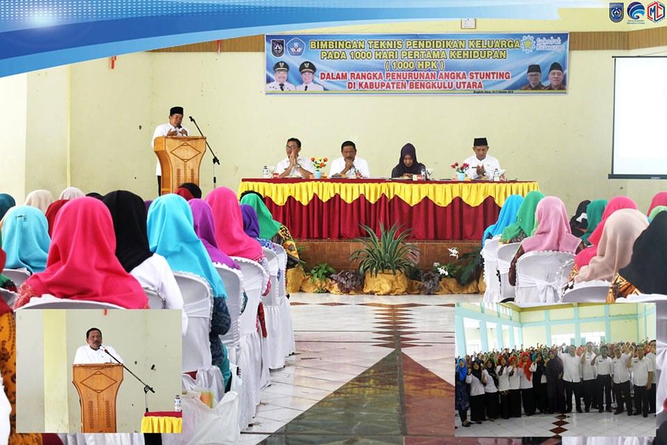 Bupati Bengkulu Utara Buka Bimtek Pendidikan Keluarga 1000 Hari Pertama Keidupan