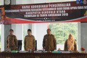 Bupati Bengkulu Utara PimpinRapat Koordinasi Pengendalian Kegiatan Triwulan III Tahun Anggaran 2019