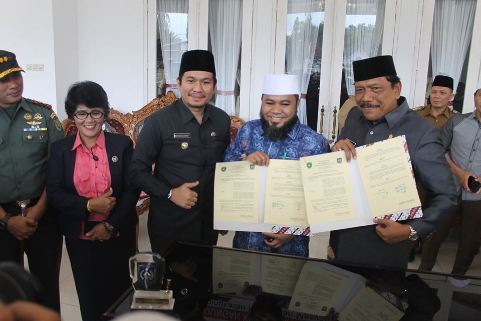Bupati Bengkulu Utara Bersama Wali Kota Bengkulu Tandatangani MoU Peningkatan Kehidupan Masyarakat yang Relegius