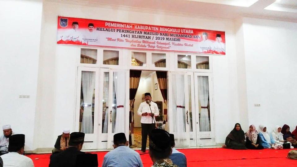 Pemkab Bengkulu Utara Melaksanakan Peringatan Maulid Nabi Muhammad SAW,1441 Hijriyah