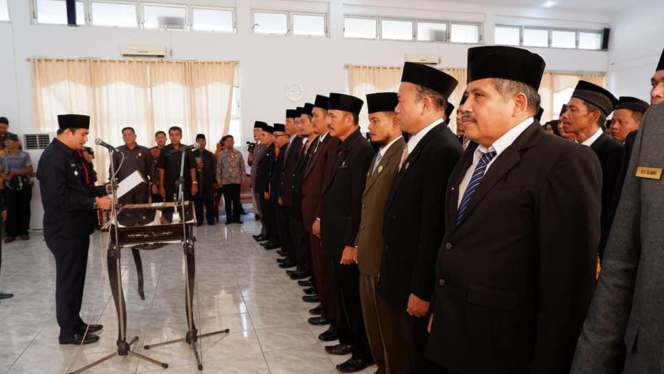 Pelantikan dan Pengambilan Sumpah Jabatan Struktural 69 ASN di Lingkungan Pemerintah Kabupaten Bengkulu Utara