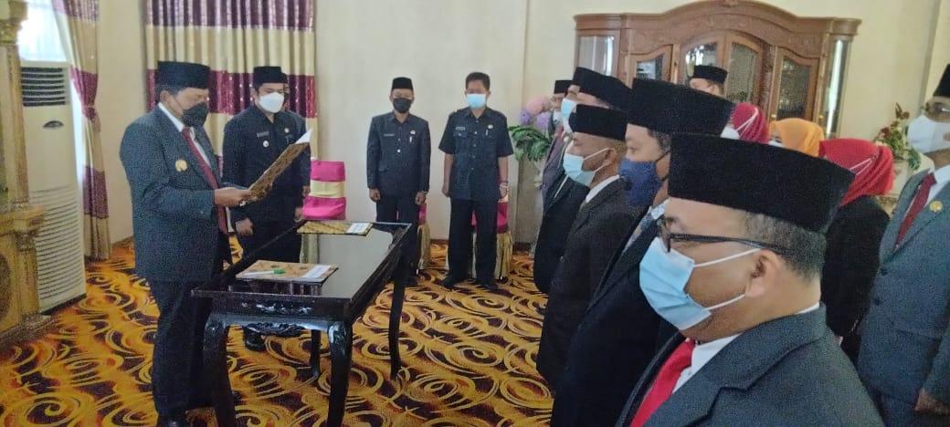 Bupati Bengkulu Utara Lantik 14 pejabat Eselon II dan III