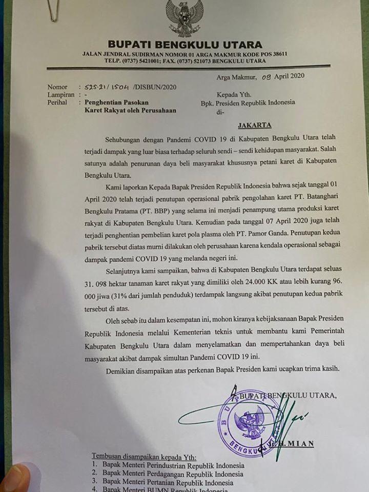 Surati Presiden Jokowi, Bupati Mian Minta untuk Selamatkan Daya Beli Masyarakat