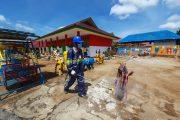 Hari Ini, 11 Titik di Kota Arga Makmur Disemprot Disinfektan