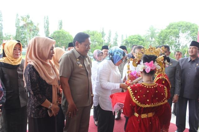 Kunjungan Kerja Direktur Jenderal Kawasan Transmigrasi Kementerian Desa, PDT dan Transmigrasi RI Ir Roosari Tyas Wardani MMA di Arga Makmur