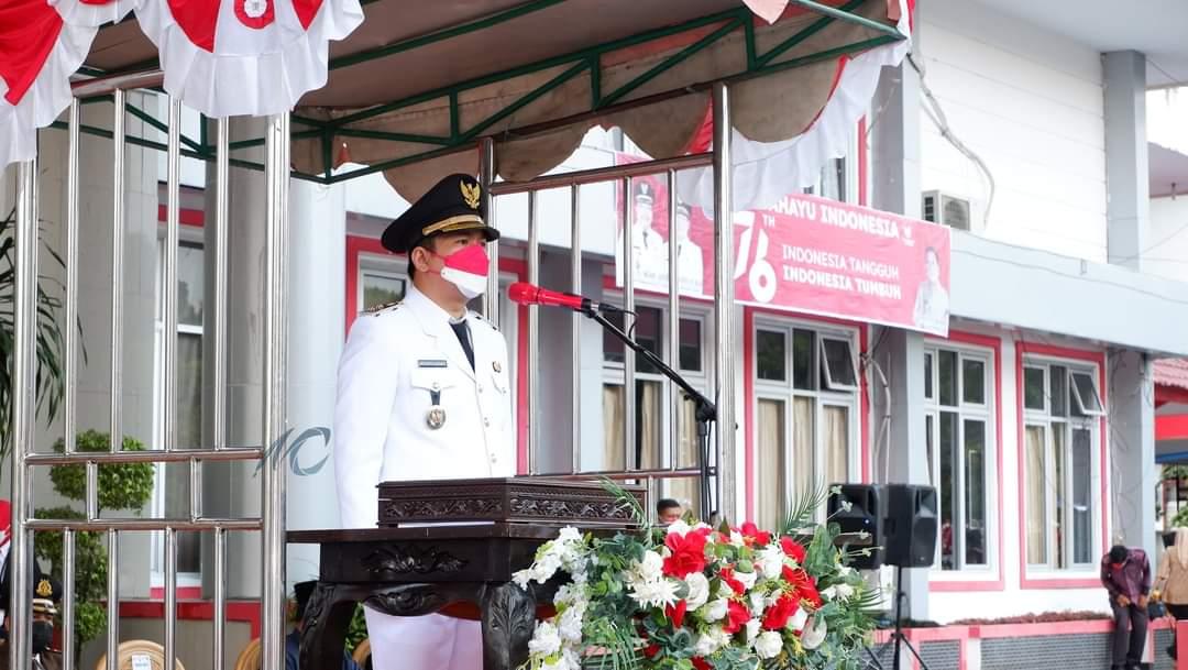 Wakil Bupati BU Arie Jadi Inspektur Upacara Penurunan Bendera