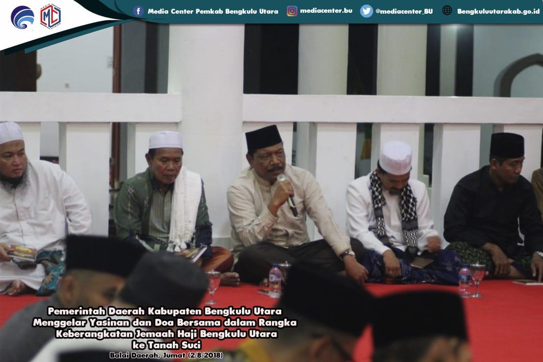 Pemkab Gelar Yasinan & Doa untuk Jemaah Haji Bengkulu Utara
