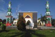 Dinas PUPR Bengkulu Utara Perindah Masjid Agung Baitul Makmur Argamakmur