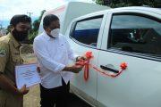 Bupati Bengkulu Utara SerahkanMobil Promkes dan Instalasi Farmasi