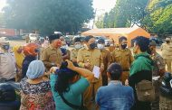 Pasar Kaget di GOR Sahli Romli, Bupati Himbau Masyarakat Atuhi Prokes