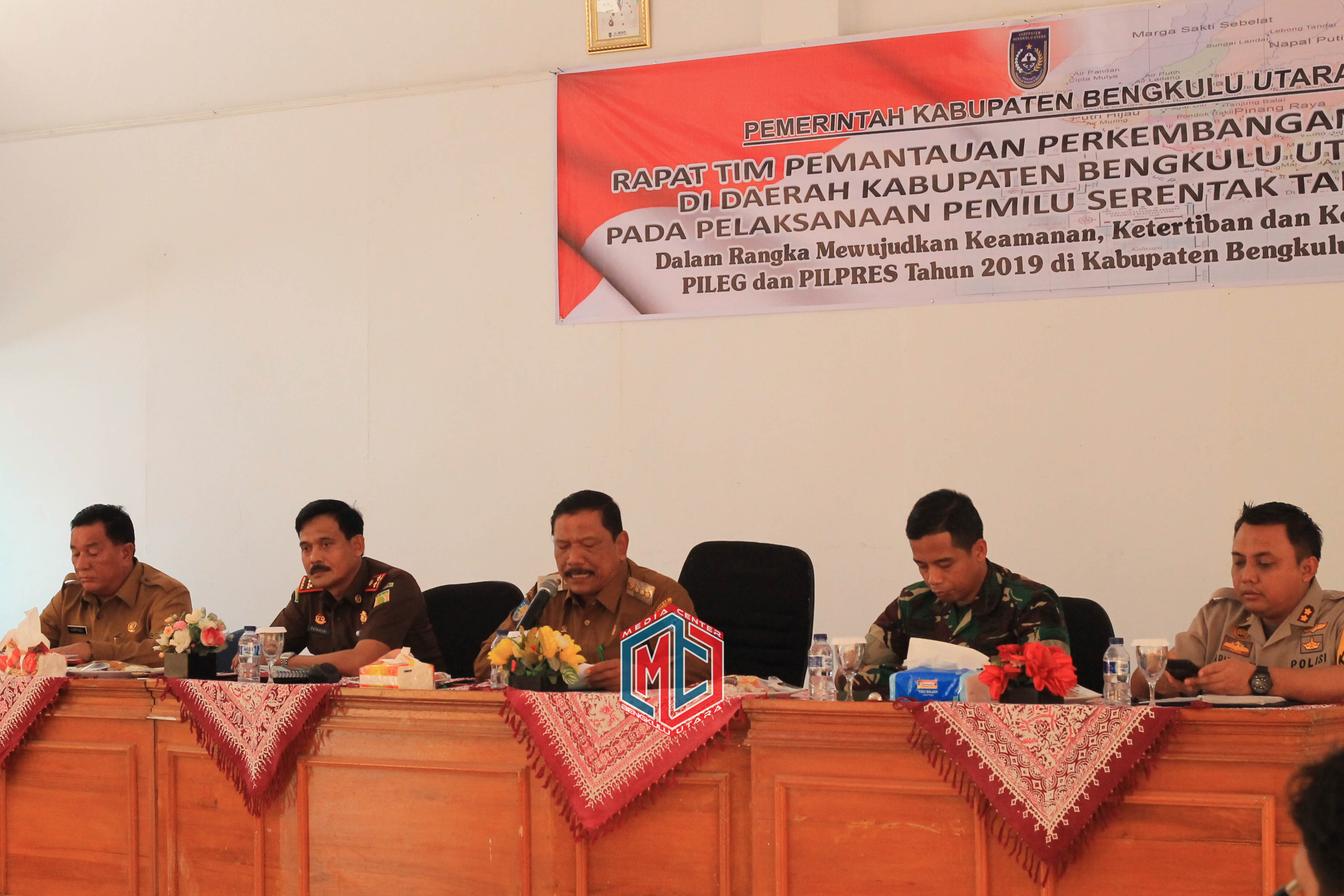 Unsur Forkopimda Kabupaten Bengkulu Utara Bersinergi Sukseskan Pemilu 2019