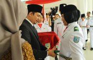 Wabup Kukuhkan Anggota Paskibraka Kabupaten Bengkulu Utara 2018