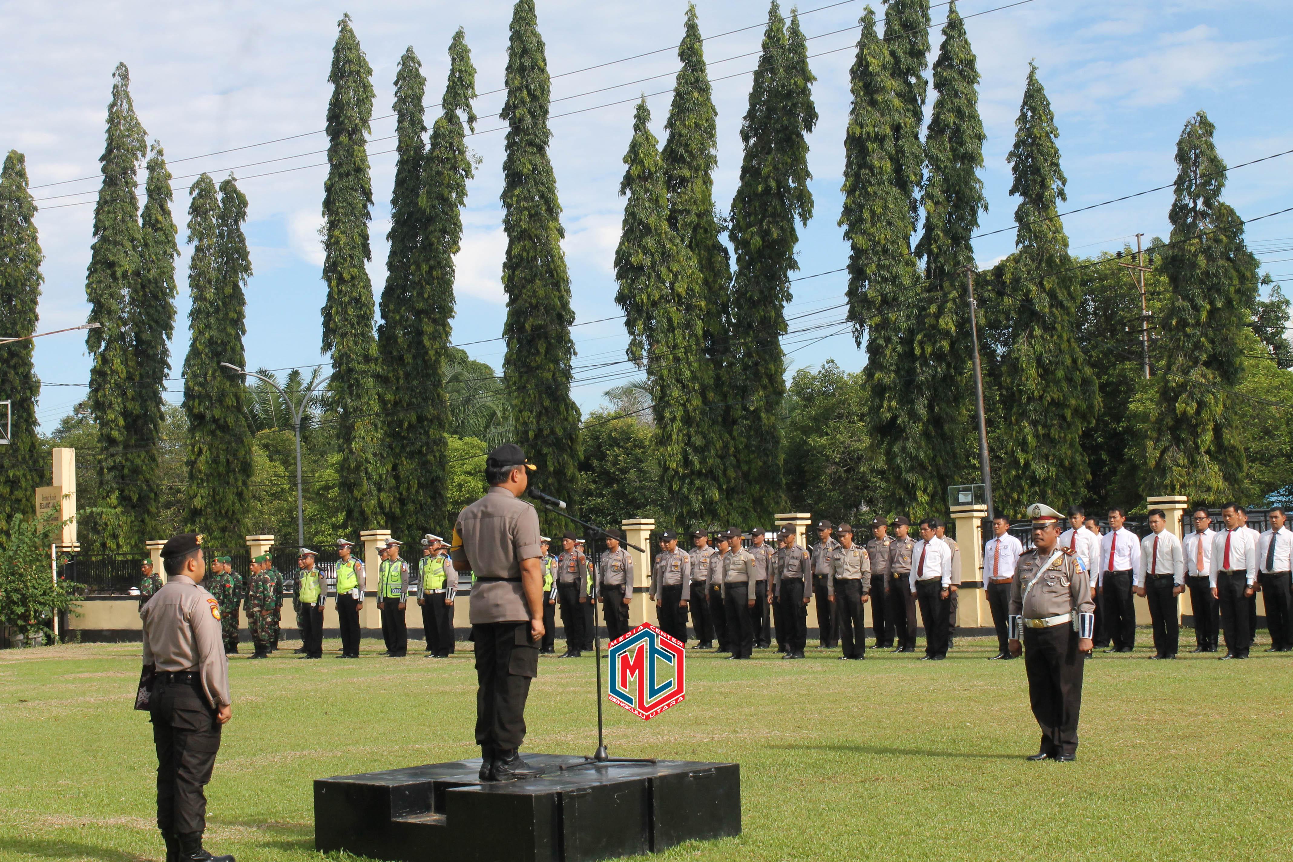 Kapolres Bengkulu Utara Pimpin Apel Gelar Pasukan Operasi Nala 2019