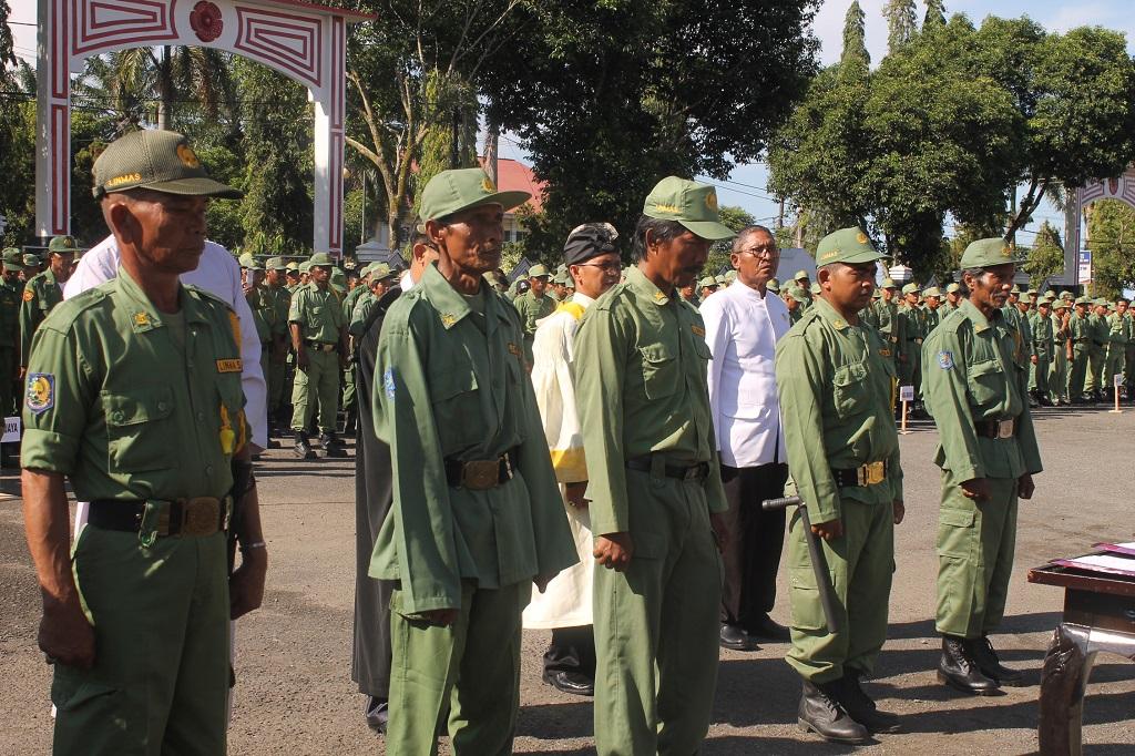 1.808 Linmas Siap Amankan Pemilu di Kabupaten Bengkulu Utara