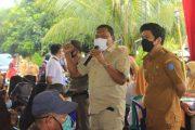 Wujudkan Herd Immunity , Bupati bersama Wabup BU Sambangi Gebyar Vaksinasi Kecamatan Air Padang