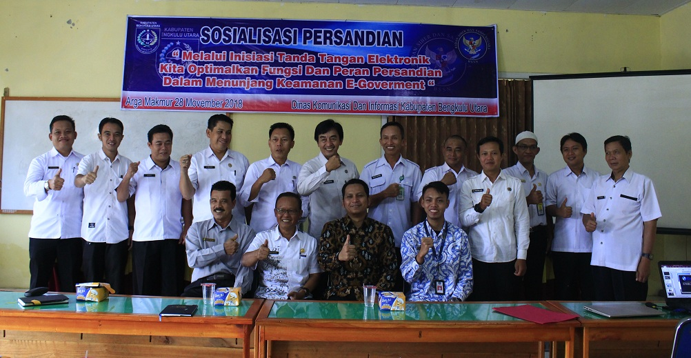 Diskominfo Bengkulu Utara Sosialisasikan Kesadaran Keamanan Informasi