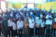 Bupati Bengkulu Utara Secara Resmi Serahkan Sertifikat PTSL