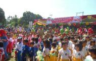 Gelar Senam Massal Gemu Fa Mi Re Peringati Hari Anak Nasional