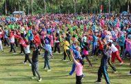 Dispora Sukseskan Senam Bersama di Kecamtan Lais
