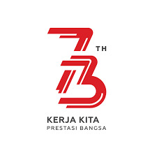 LOGO HUT RI KE 73 DAN ASIAN GAMES XVIII