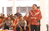 Bupati Bengkulu Utara Menyerahkan Hibah Tanah Pada Polda Bengkulu untuk Pembangunan Mako Brimob