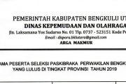 Peserta Seleksi Paskibraka Perwakilan Bengkulu Utara Lulus Di Tingkat Provinsi Tahun 2019