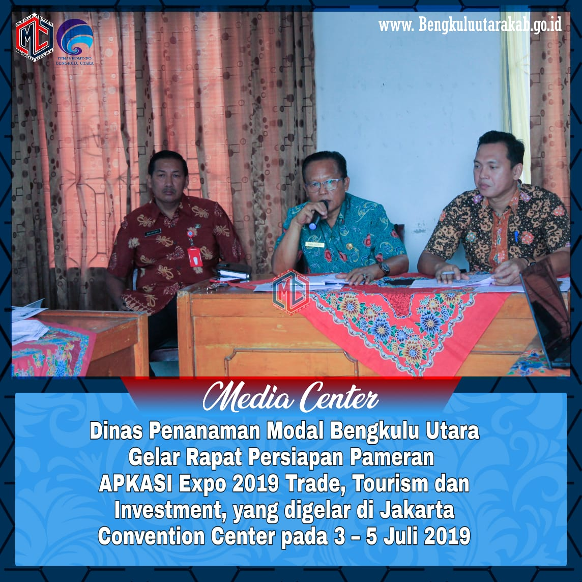 Dinas Penanaman Modal Bengkulu Utara Gelar Rapat Persiapan Pameran APKASI Expo 2019