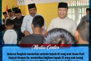 Safari Ramadhan, Gubernur Bengkulu Berikan Bantuan Untuk Panti Asuhan dan Pembangunan Masjid