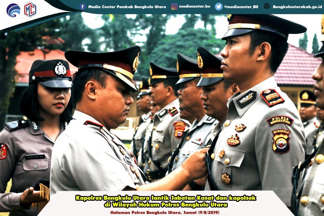 Kapolres Bengkulu Utara Lantik 3 Kasat dan 12 Kapolsek