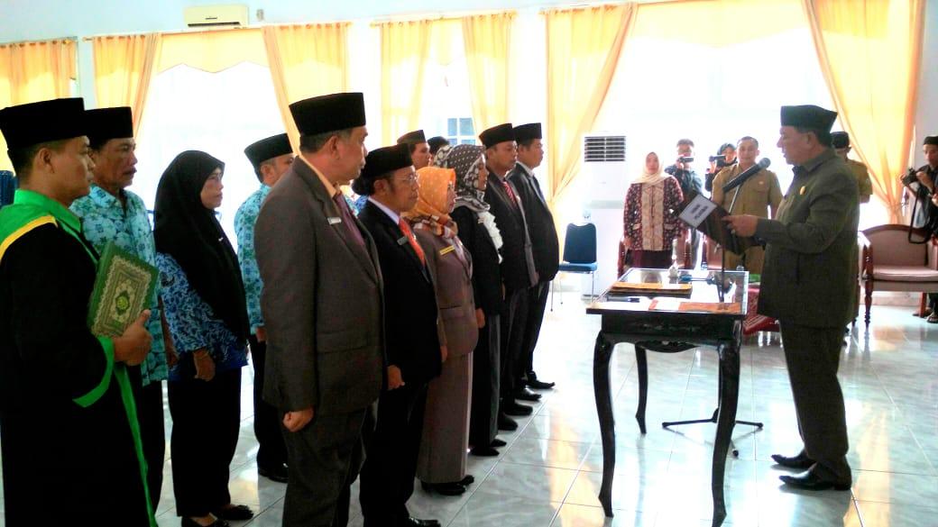 Pelantikan dan Pengambilan Sumpah Jabatan Struktural di Lingkungan Pemerintah Kabupaten Bengkulu Utara