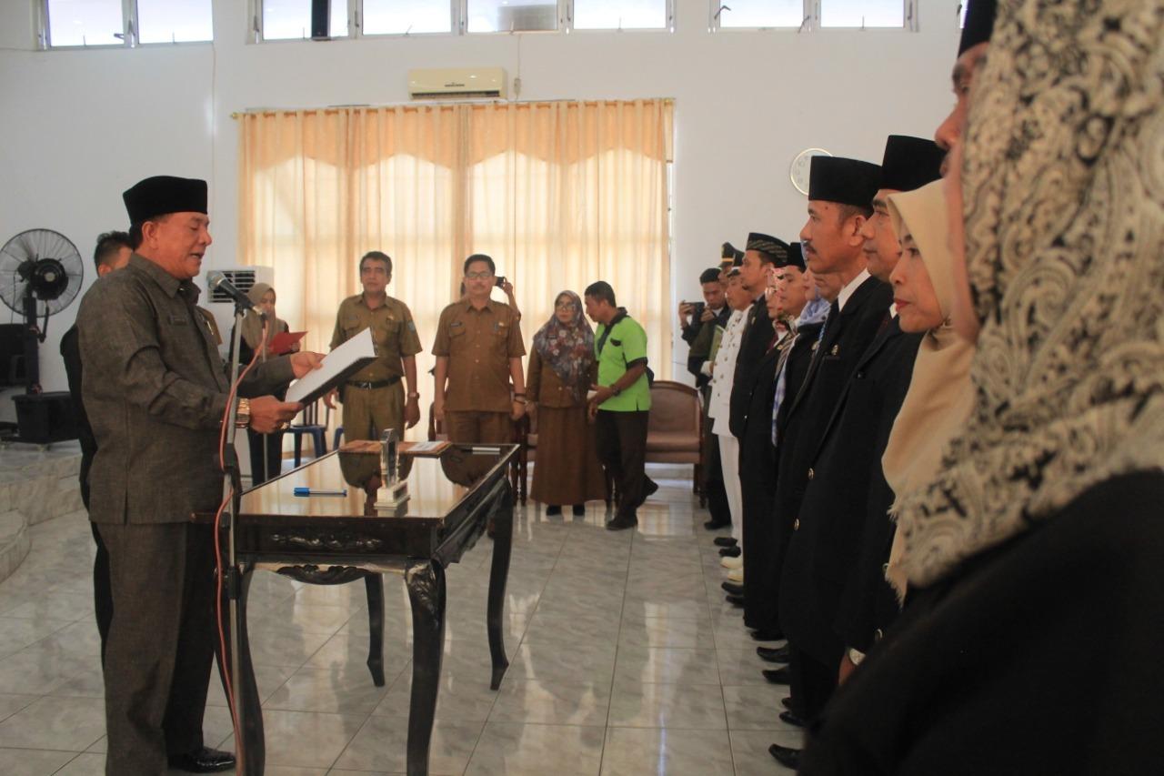 Sekda Bengkulu Utara Lantik dan Kukuhkan 75 Pejabat Eselon