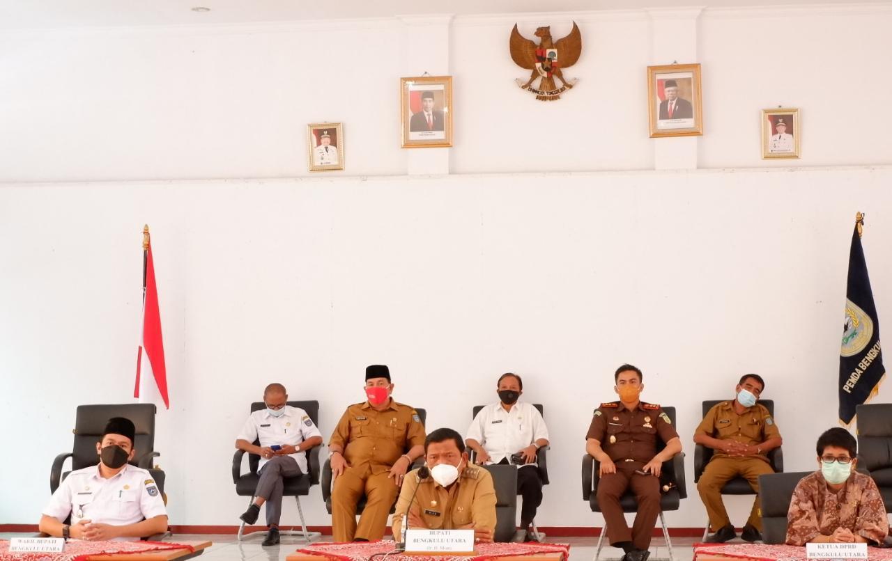 Bupati Wakil Bupati Bengkulu Utara Ikuti Arahan Presiden RI Secara Virtual