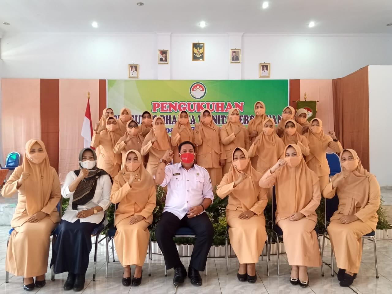 Pengurus DWP Kabupaten Bengkulu Utara Masa Bakti 2019 – 2024, Dikukuhkan Secara Virtual