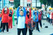 Senam Sehat dan Pemeriksaan Kesehatan Gratis Bersama BPJS Kesehatan Bengkulu Utara
