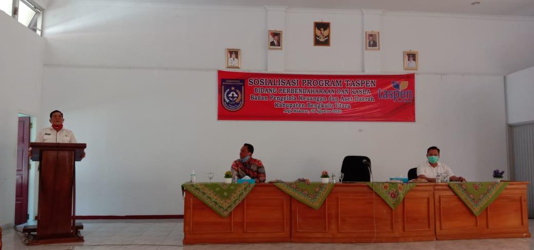 Sekda Bengkulu Utara Buka Sosisalisasi Program Taspen