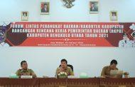 Wabup Bengkulu Utara Pimpin Rakor Rancangan RKPD Tahun 2021