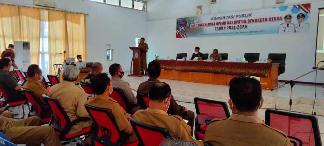 Pembukaan Forum Konsultasi Publik RPJMD Kabupaten Bengkulu Utara 2021-2026