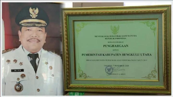 Pemkab BU Kembali Terima Penghargaan Kabupaten Peduli HAM